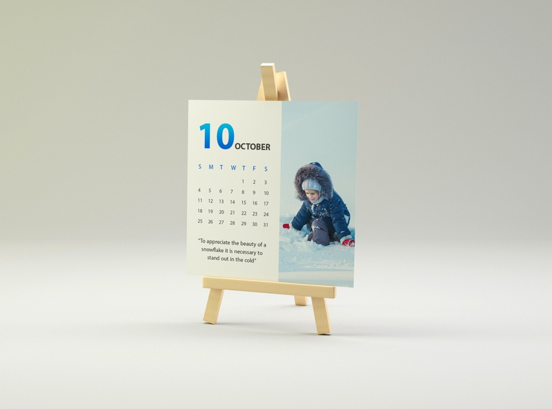 October Calendard graphic design graphic art calendar blue winter october design creative