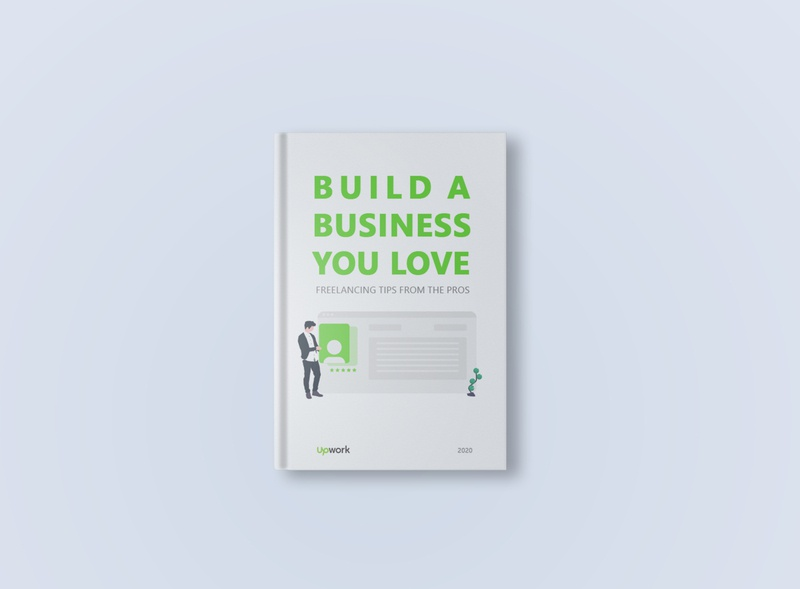Upwork book cover minimal clean photoshop cover book cover book graphic green upwork typography graphic design vector branding illustration interface creative design