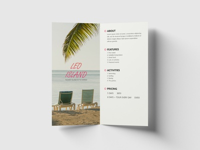 Leo Island Brochure graphicdesign graphic designs chairs island leo white minimalistic clean dl graphic design adobe illustration creative design brochure layout brochure design