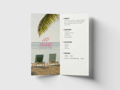 Leo Island Brochure graphicdesign graphic designs chairs island leo white minimalistic clean dl graphic design adobe illustration creative design brochure layout brochure design