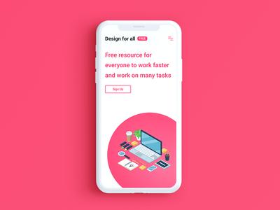 "Design for all ""mobile version"" iphonex version mobile app web design resources designers site web ux ui design"