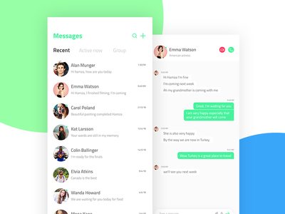 Messages app for iPhone social interface messages conversation iphone x chat ux ui app iphone
