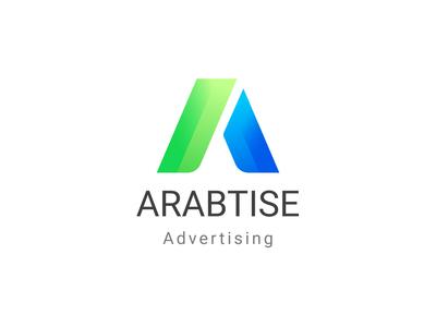 Arabtise Logo logo arab logo design advertising green blue colorful graphic design creative design designer creative designer designer logo logos logotype logodesign 2019 2020 design simple logo simple