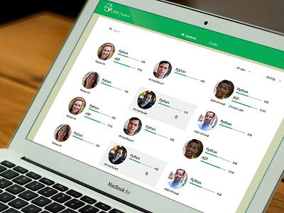 Users List web app material design user interface flat design ui ux dashboard