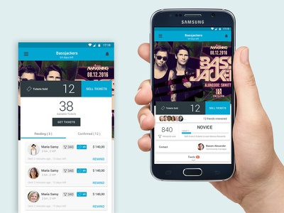 Events Android app app mobile ui design ux android events