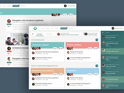 Forum new concept concept community education posts blog ui ux web forum