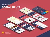 Material social UI Kit