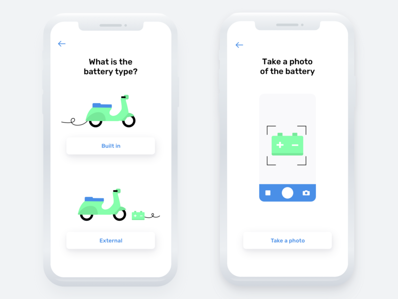 Electric Scooter Service App battery scooter eco-friendly ui ux app