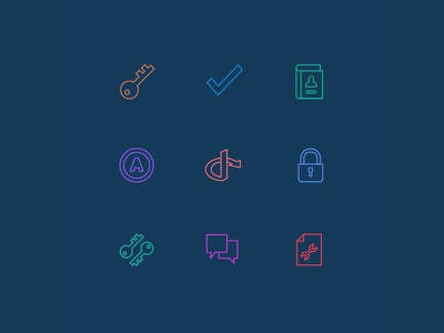 Developer.okta.com - Icons social login authorization authentication lock oauth contacts book check key icon icons