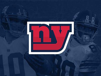 New York Giants Redesign ny new york nyc giants football sport sports logo new york logo design nfl