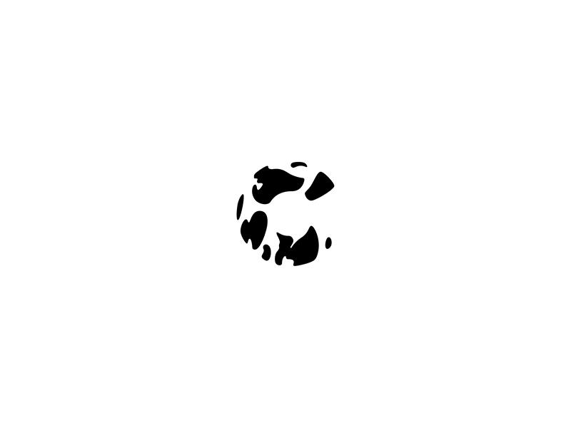 C - 36 Days of (Logo)Type 36days icon letter cow c pattern geometric monogram logo logotype minimal simple
