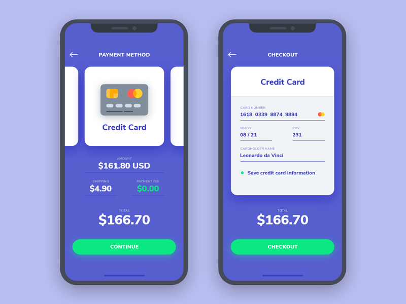 Daily UI #002 | Credit Card Checkout purchase credit card dailyui ui interface iphone x ios pay payment cards checkout app
