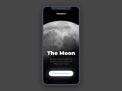 Daily UI #003 | Landing Page app onboarding screen splash moon ios iphone x interface ui dailyui landing page landing