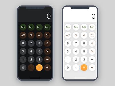 Daily UI #004 | Calculator calculator numbers dailyui ui interface iphone x ios rams simple screen braun app