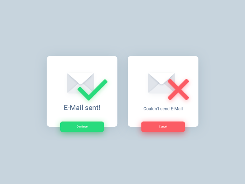 Daily UI #011 | Flash Message error success flash message dribbble card button ui dailyui icon email