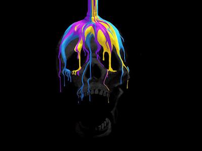 Shock and Awe illustrator skull digitalart procreate illustration