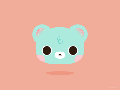 Kawaii Mintobea 🐻🍃 可愛い character design character illustration cute animals cute kawaii