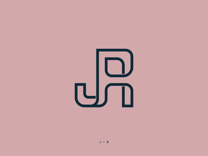 Jen Ricardo personal monogram minimal logodesign logotype brand identity jr isotype monogram logo logo