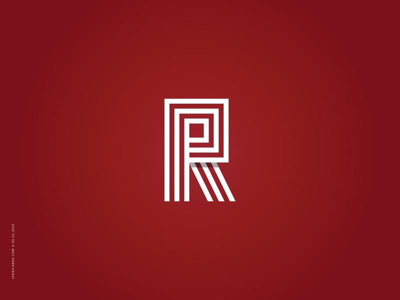 R r letter monogram logo logotype logo design letter lettermark mark for sale branding brand brand identity