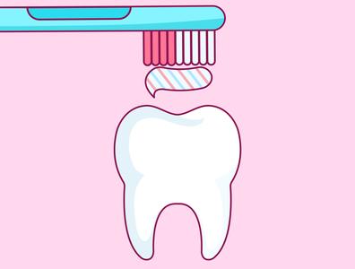 Everyone has to brush their teeth! dental care dental dentists dentist toothbrush tooth paste teeth tooth vector illustration vector illustration flat illustration flat