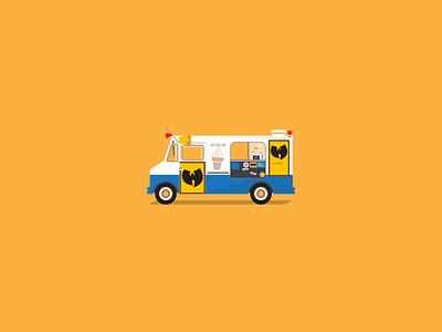 Ice Cream Truck truck car ice cream truck illustration wu raekwon ice cream wutang