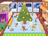 Deer help Christmas busy..