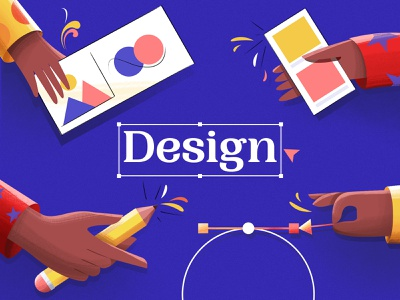 Design Illustration pentool hand images colors pencil design illustraion