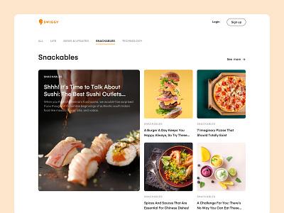 Food Blog food app food blog food sketch ui ux ui design
