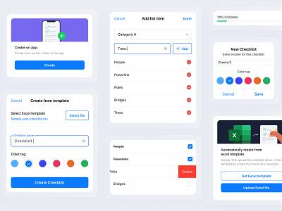 Checklist iOS Components checklist figma sketch interaction design ui ux ui design