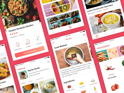 Cooking App All Screens