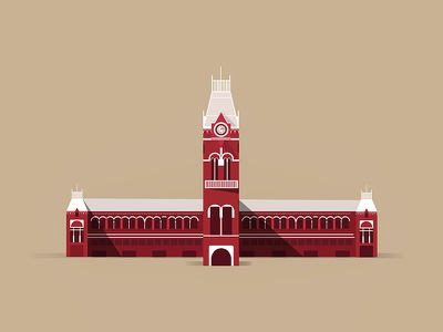 Chennai Central chennai central vector city city icons chennai illusrtation