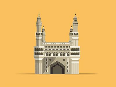 Charminar  Hyderabad charminar hyderabad city icon vector illustration charminar illustration