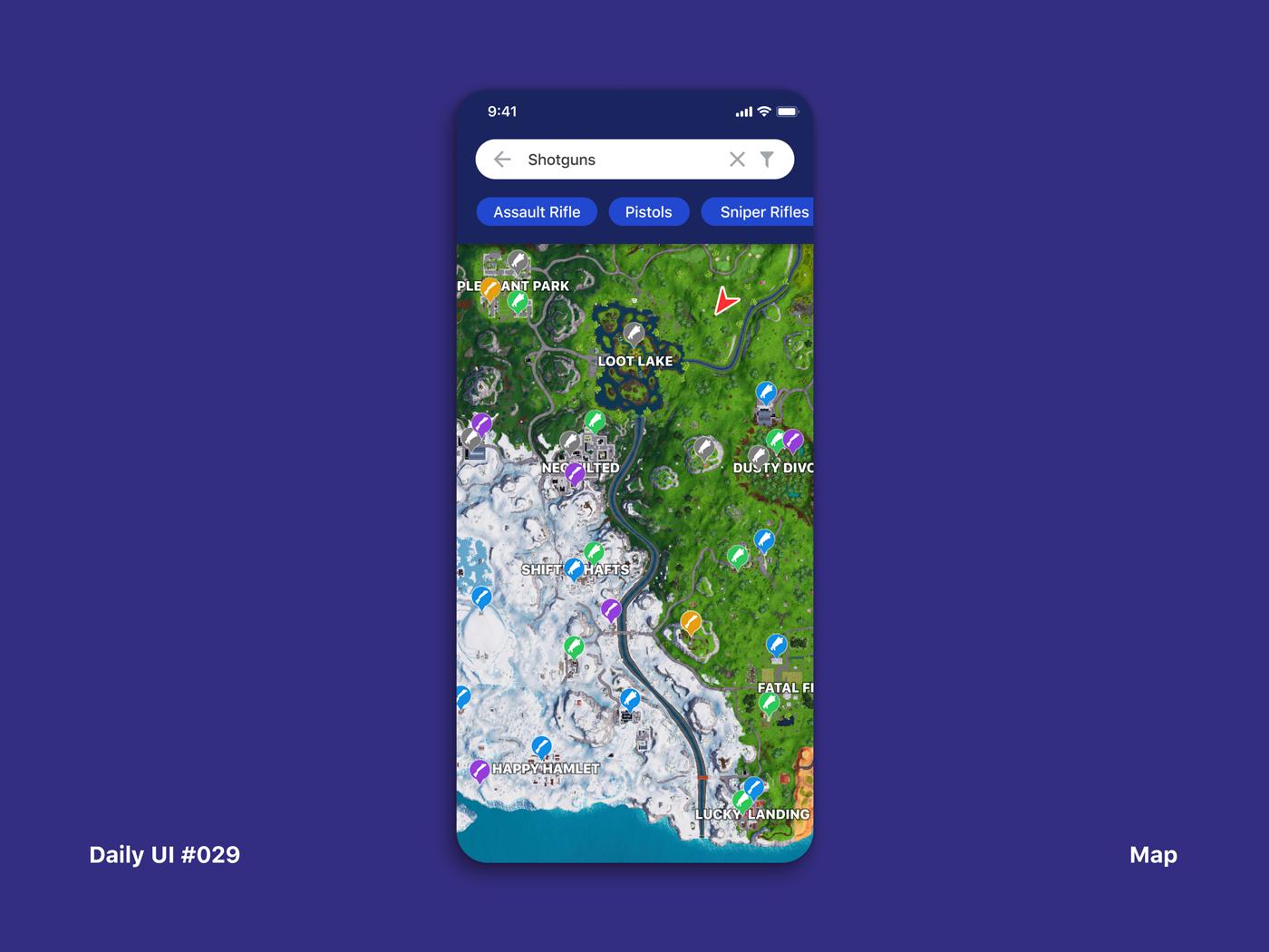 Daily UI #029 Map game map dailyui 029 app interface dailyui ui