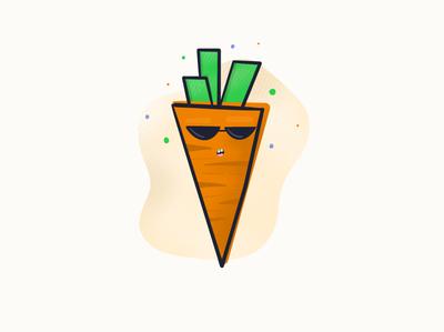 Carrot-tannin' beach flat sunglasses illustration party summertime tan orange carrot