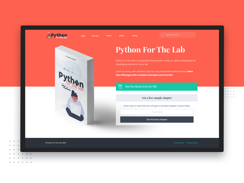 Web and Book Cover color palette book cover coding python web design redesign ui red interface illustration