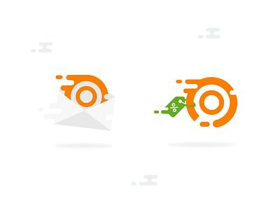 Flying Icons illustration logotype logo flat liquid flying set icons icon