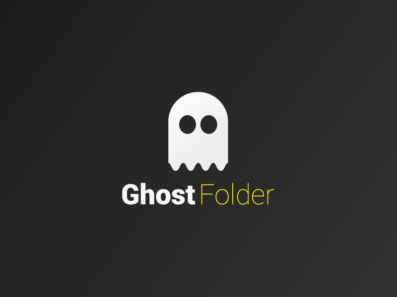 Ghost Folder Logo / Icon icon art branding creative design logo