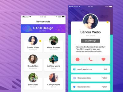UXUI sketch ui ux app profile ios