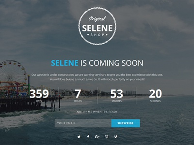 Selene - Responsive Coming Soon Template