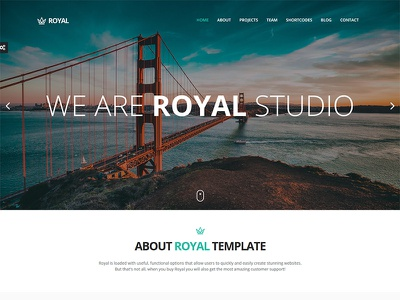 Royal - Responsive One Page Parallax Template shortcode twitter project contact video parallax athenastudio bootstrap template onepage responsive royal