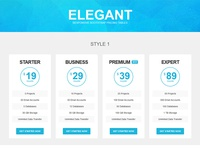 Elegant - Responsive Bootstrap Pricing Tables