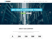 Phoenix - Responsive One Page Parallax WordPress Theme