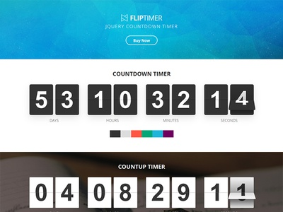 FlipTimer - jQuery Countdown Timer timer responsive plugin past jquery flip css countup counter countdown athenastudio animation