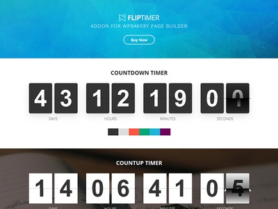 FlipTimer - Addon for WPBakery Page Builder wpbakery wordpress visualcomposer timer responsive plugin jquery fliptimer countdown athenastudio animation addon