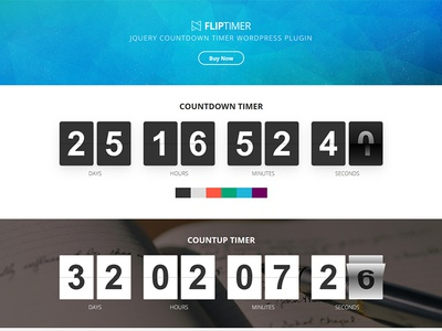 FlipTimer - jQuery Countdown Timer WordPress Plugin wordpress timer responsive plugin jquery fliptimer flip countup counter countdown callback athenastudio