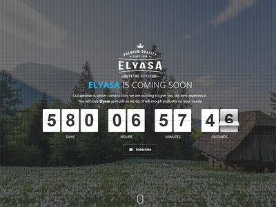 Elyasa - Creative Coming Soon Template video under construction subscribe slideshow php image google maps elyasa contact form coming soon athenastudio ajax