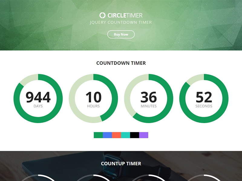 CircleTimer - jQuery Countdown Timer by AthenaStudio on Dribbble
