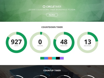 CircleTimer - jQuery Countdown Timer WordPress Plugin wordpress timer responsive plugin multicolor jquery countup counter countdown circletimer callback athenastudio
