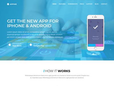 AppMe - App Landing Page WordPress Theme software wordpress translation theme shortcode mobile ios athenastudio landing app android ajax