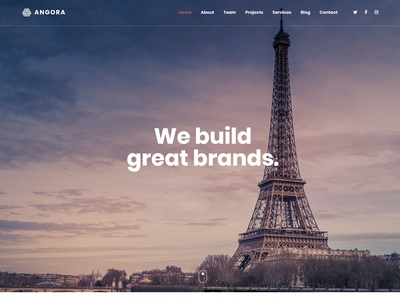 Angora - Responsive One Page Parallax Template